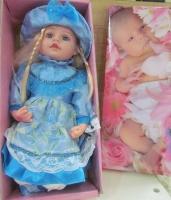 عروسک موزیکال سایز 24 لباس آبی