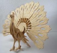 پازل چوبی طاووس 3 لایه کوچک